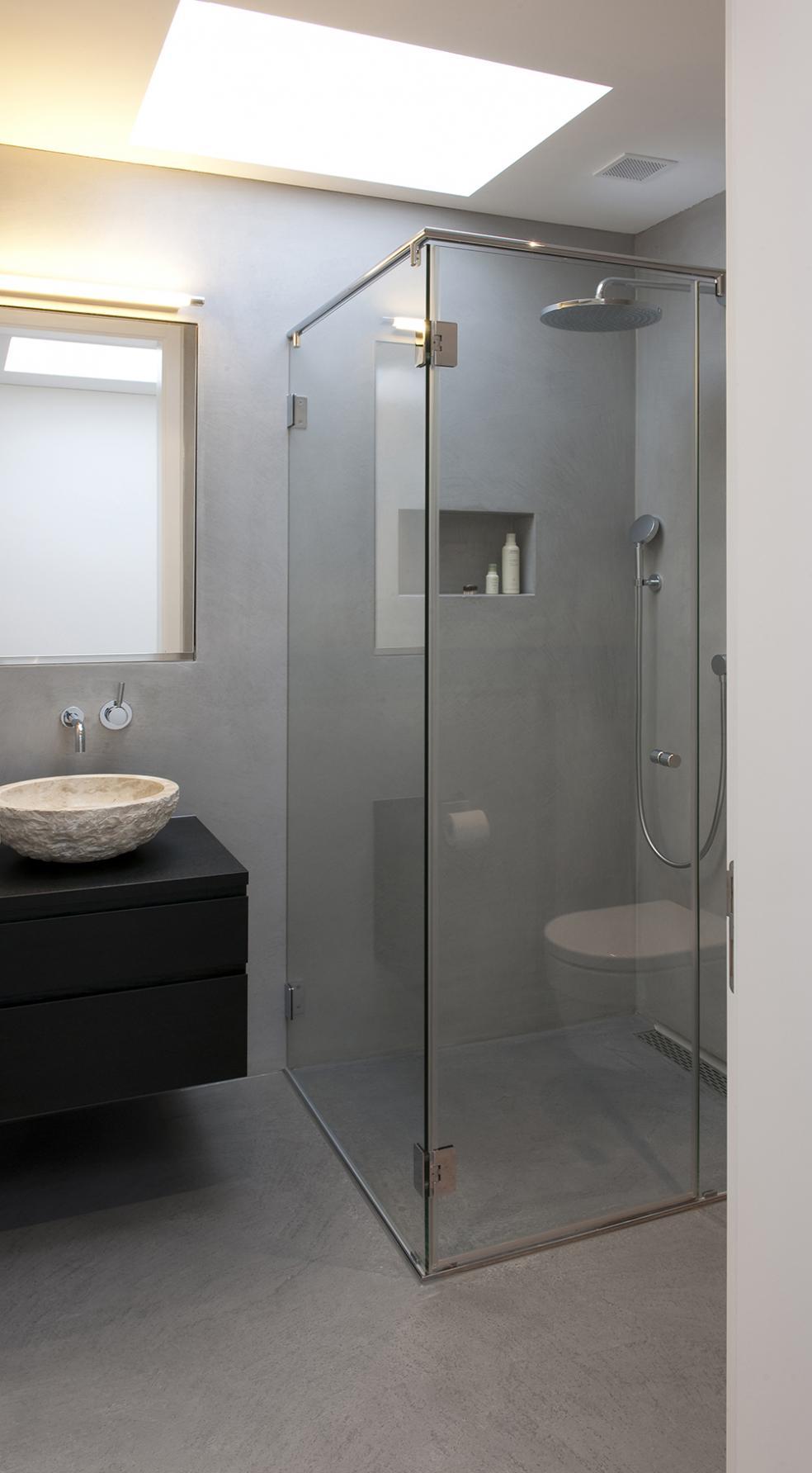 Bodarto badezimmergestaltung boden und wandbelag f r badezimmer - Bodenbelag badezimmer fugenlos ...