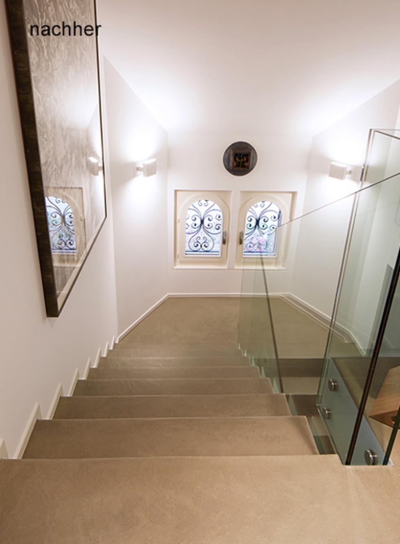 Die Treppen wurden mit Bodarto modernisiert