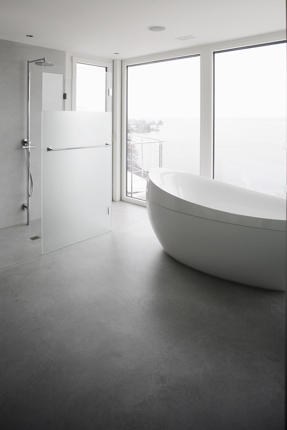 Fugenlose Böden Und Wände Für Das Moderne Stilvolle Bad